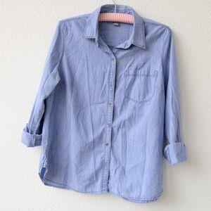 Women's denim button down shirt